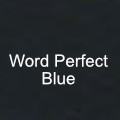 word perfect blue