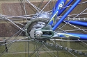 Button link to full size close up image  of rear drop outs on  Arthur Knowlers Navana frame