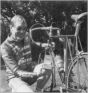 Trevor Jarvis with Medal for Frame Builder of the Year 1996