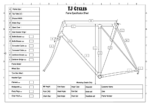TJ Cycles Frame spec Sheet 2015